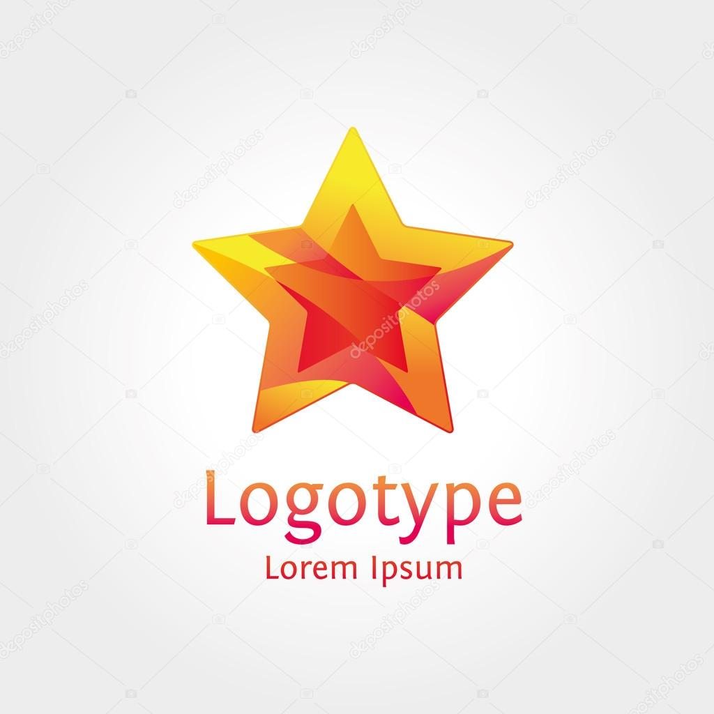 Star wave logotype for business
