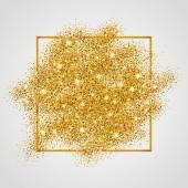 Fotografie Gold Glitter hintergrund funkelt