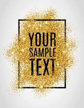 Gold glitter sample text background