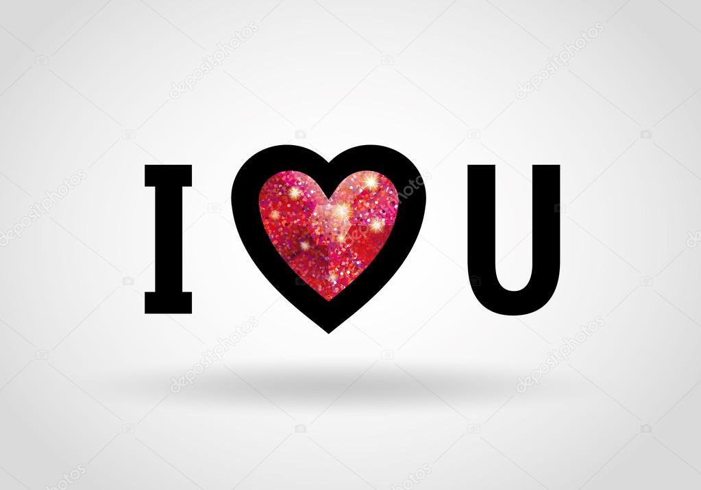 I Love U Heart Glitter Ruby Stock Vector © PirinaIrina 60 Beauteous Love U Images For Her