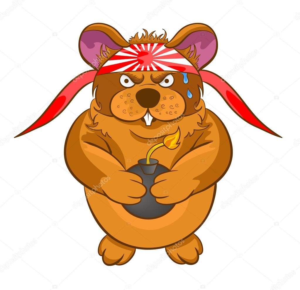 Dessin anim hamster kamikaze bombe dans les mains image - Hamster dessin anime ...