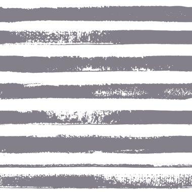 Brush stripes vector seamless pattern.  Eight gray stripes on white background.