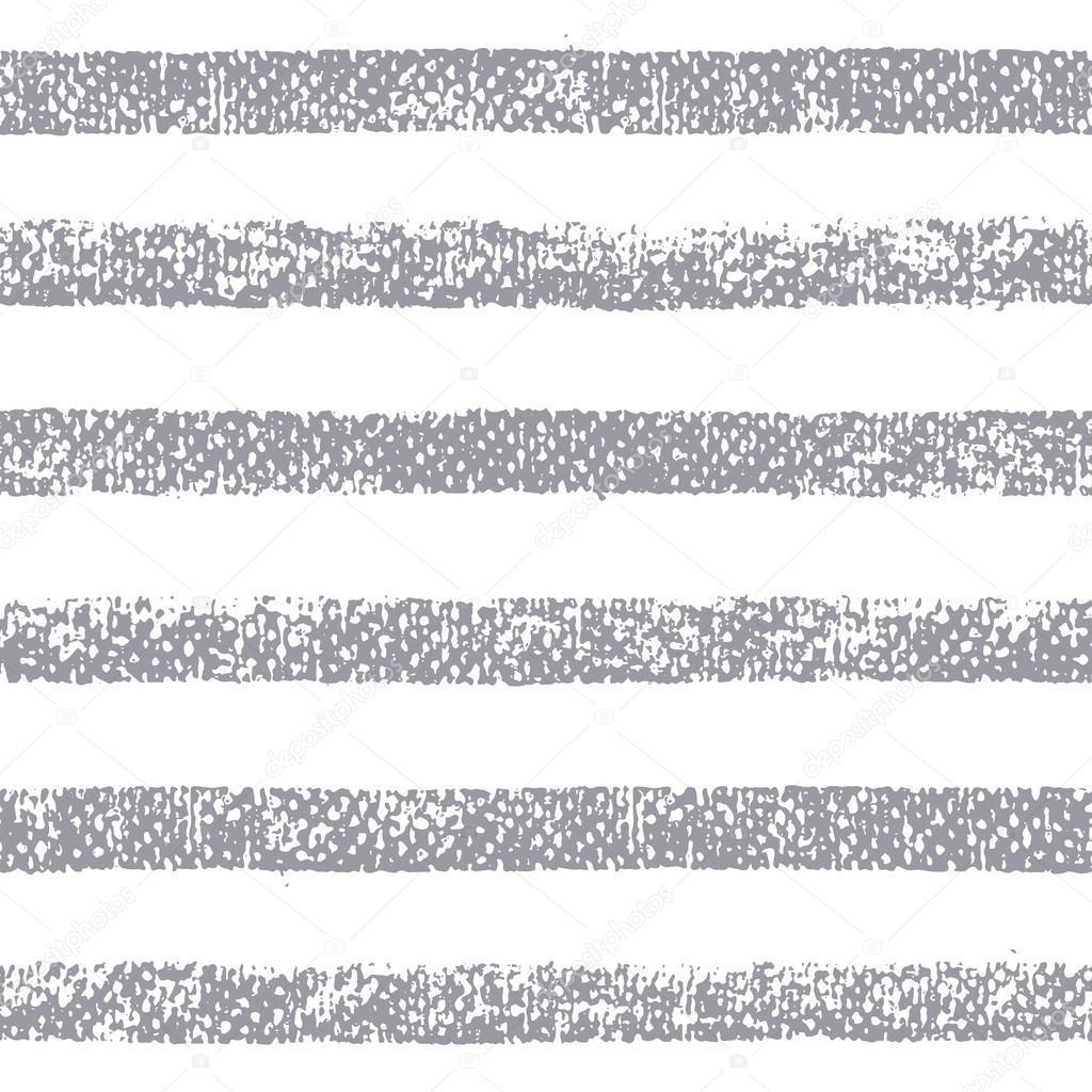 Chalk seamless stripes on white background.