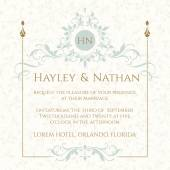 Fotografie Wedding invitation. Decorative floral frame and monogram.