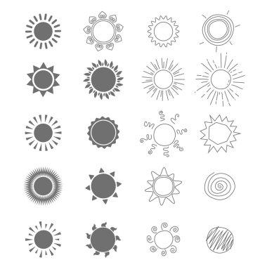 Set  stylized suns.