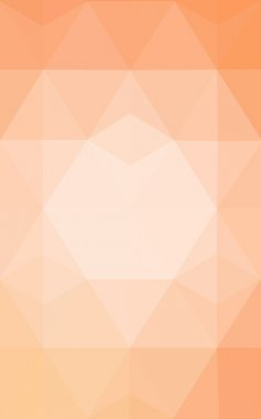 Orange polygonal pattern, which consist of triangles and gradient, background in origami style.