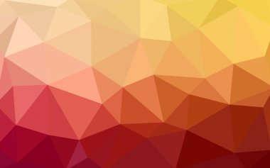 Light red, yellow polygonal design pattern,which consist of triangles and gradient in origami style