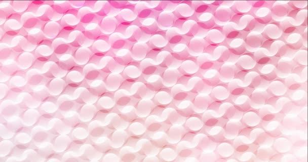 4K hurok világos rózsaszín, sárga áramló videó buborékokkal. Modern absztrakt animáció lejtős körökkel. Kapcsold be a reklámjaidat. 4096 x 2160, 30 fps.