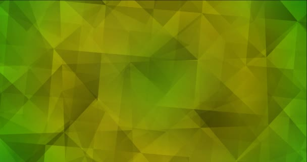 4K looping light green, yellow polygonal video footage.