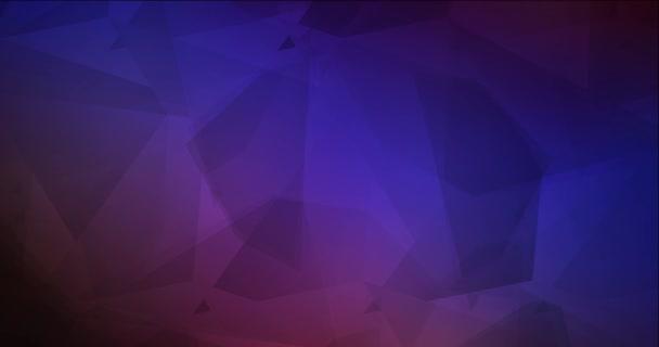 4K smyčka tmavě modrá, červená polygonální video vzorek.