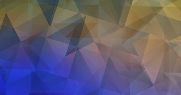 4K smyčka světle modrá, žlutý polygonální video vzorek.