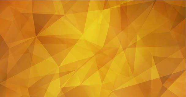 4K smyčka světle oranžová polygonální tekoucí video.