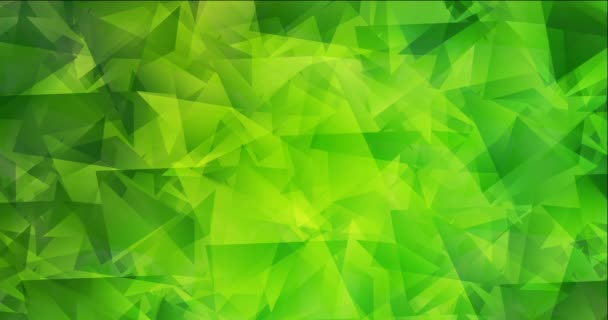 4K looping light green, yellow polygonal abstract footage.