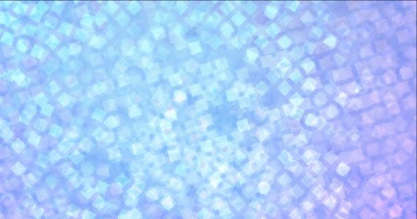 4K Looping hellrosa, blaues Videomaterial mit Raute.