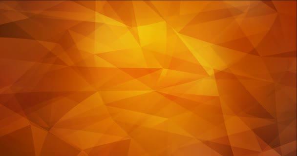 4K hurkolás sötétvörös, sárga poligonális absztrakt animáció.