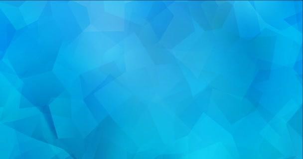 4K smyčka světle modré polygonální tekoucí video.