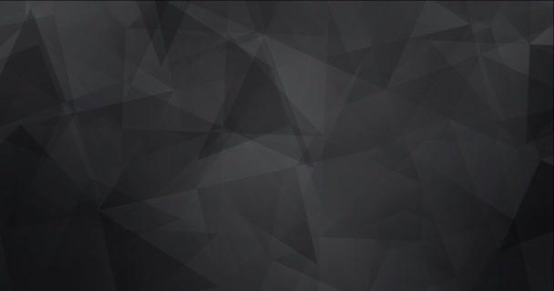 4K smyčka světle šedá polygonální tekoucí video.