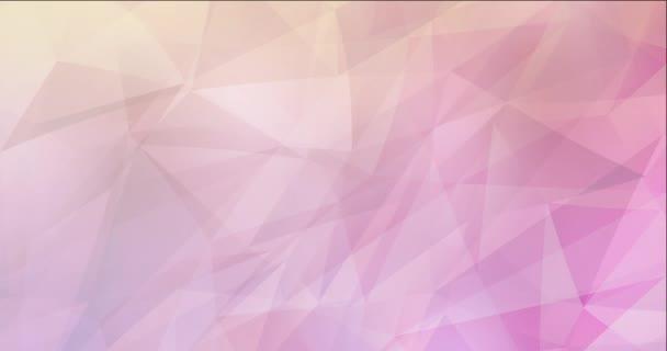 4K smyčka světle růžová, žlutá polygonální video záběry.