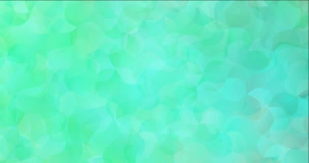 4K smyčka světle zelený video vzorek se zakřivenými liniemi.