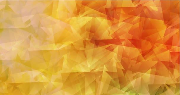 4K smyčka světle červená, žlutá polygonální tekoucí video.