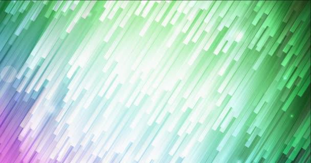 4K smyčka světle růžová, zelená tekoucí video s přímkami.