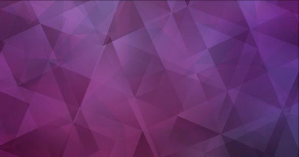4K looping világító lila, rózsaszín videó poligonális anyagokkal.