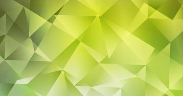 4K smyčka světle zelené, žluté polygonální video záběry.