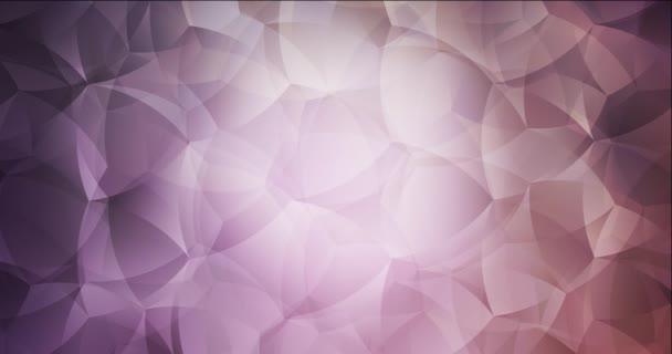 4K smyčka světle fialová, růžová video vzorek s abstraktními tvary.
