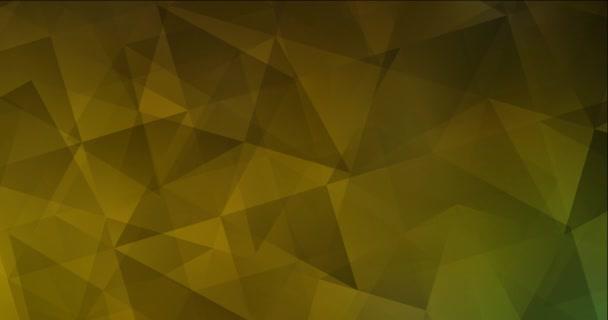 4K hurok sötétzöld, sárga poligonális absztrakt felvételek.