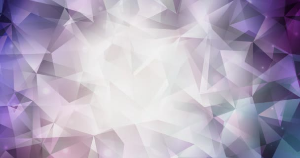 4K smyčka tmavě modrá, červená polygonální video záběry.
