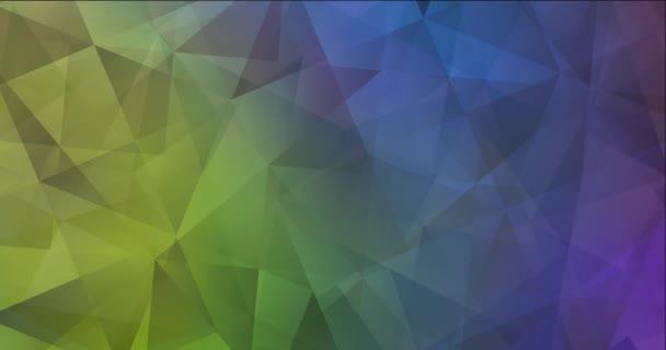 4K hurok fény multicolor polygonal absztrakt animáció.