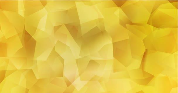 4K hurok világossárga poligonális absztrakt felvétel.
