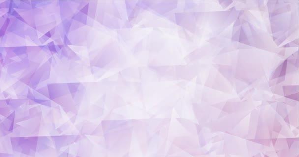 4K hurok fény lila sokszögű áramló videó.