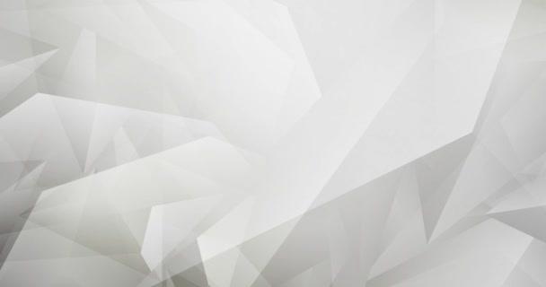 4K smyčka světle šedá polygonální abstraktní animace.