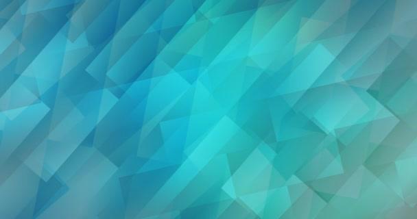 4K-Looping hellblaue, grüne Animation im quadratischen Stil.