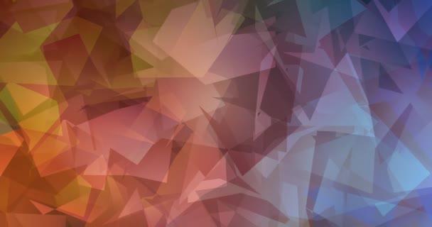 4K smyčka tmavě modrá, žlutá polygonální abstraktní záběry.