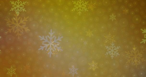 4K smyčka tmavě žluté video záběry v novoročním stylu.