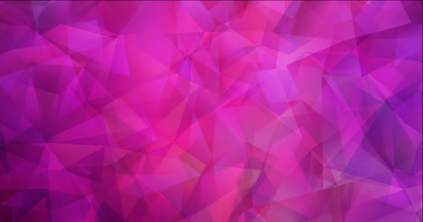 4K hurok világos lila, rózsaszín poligonális absztrakt felvételek.