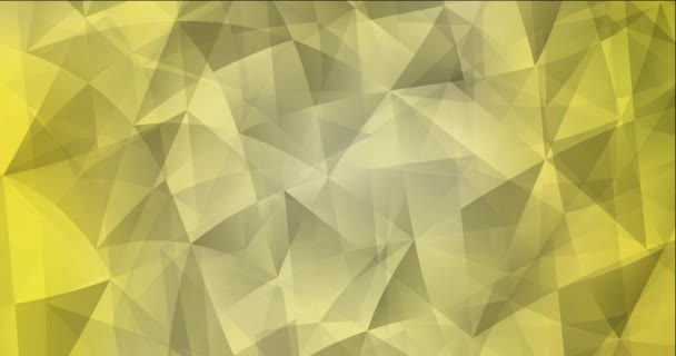 4K looping yellow video with polygonal shapes. Holographic abstract video with gradient. Clip for live wallpapers. 4096 x 2160, 30 fps.