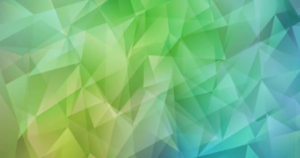 4K-Looping hellblaues, gelbes polygonales Videomaterial. Moderne abstrakte Animation mit Farbverlauf. Clip für Live-Wallpaper. 4096 x 2160, 30 fps. Codec Foto JPEG.