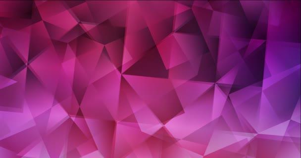 4K hurok sötét lila, rózsaszín sokszögű áramló videó.