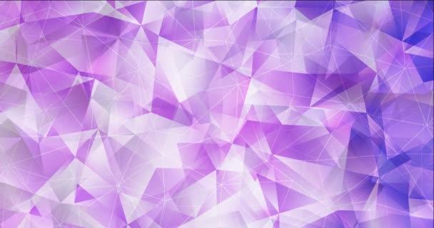 4K hurok fény lila poligonális videó minta.