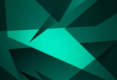 Dark Green vector backdrop with lines, triangles. Illustration with set of colorful triangles. Pattern for booklets, leaflets