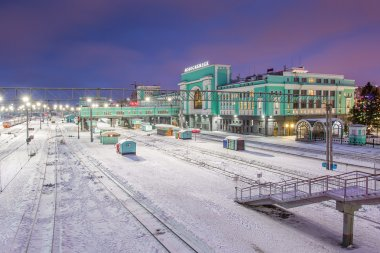 The railway station of Novosibirsk