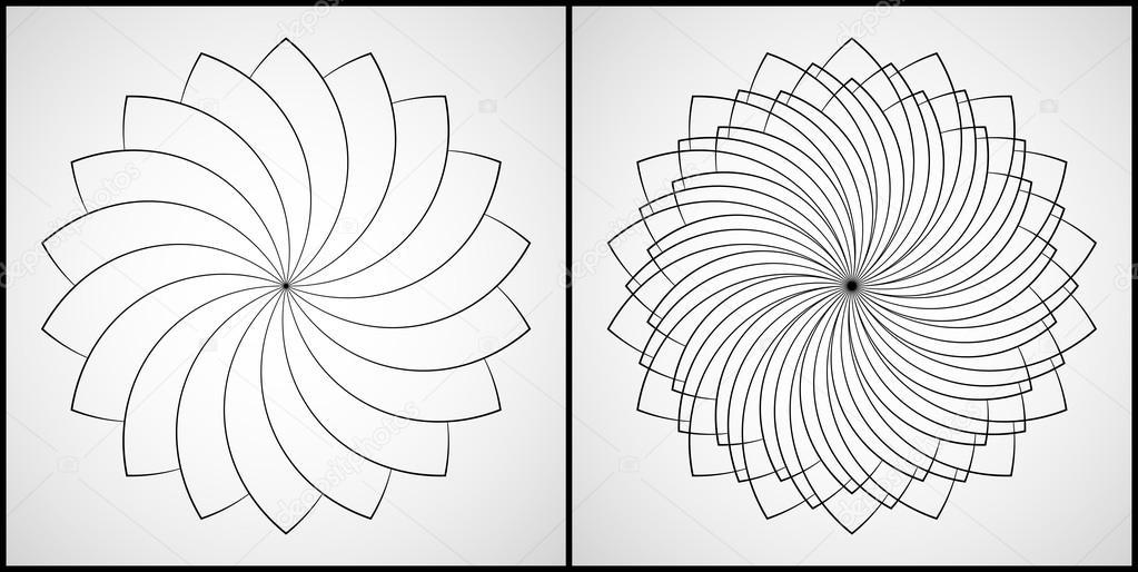 Vector ilustración - conjunto de 2 Mandalas para colorear. Ornamento ...