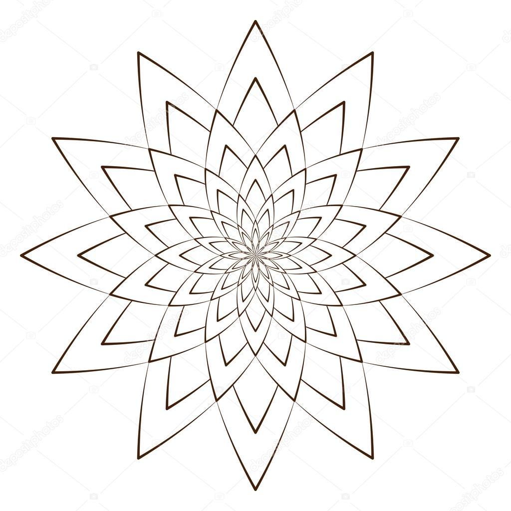 Vektor-Illustration - abstrakten Blumen-Print. Abstrakte Blumen ...
