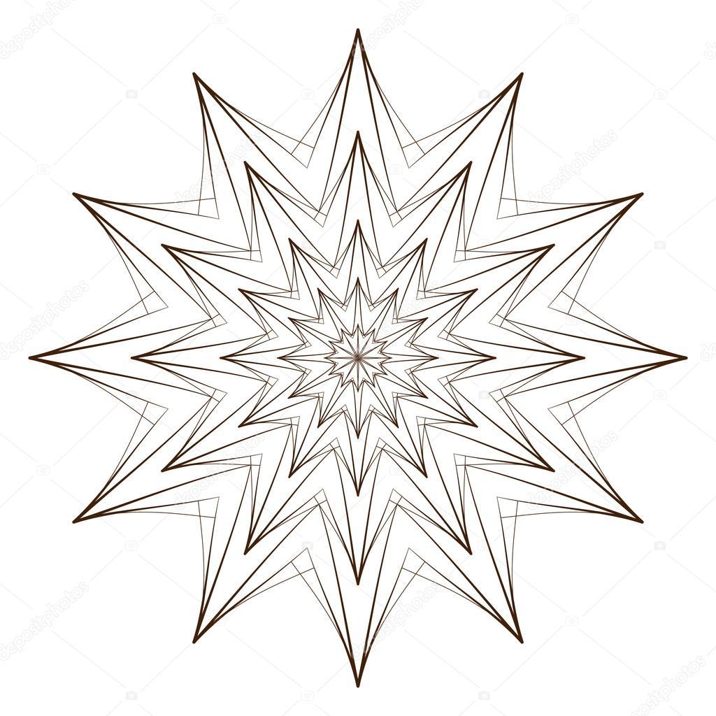 vektorillustration  abstrakten blumenprint abstrakte
