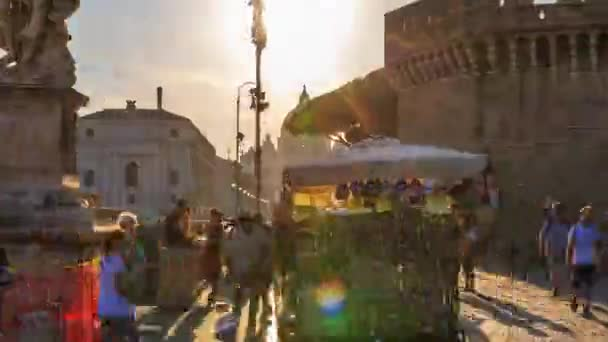 Hyperlapse of The Vatican City view of Rome, Roma, Italy