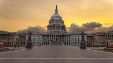 Capitol building Washington DC sunset