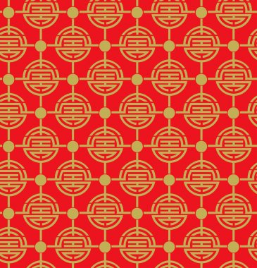 red and gold chinese pattern